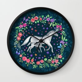 Mama and Baby Unicorn Wall Clock