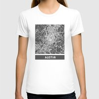 austin T-shirts featuring Austin map by Map Map Maps