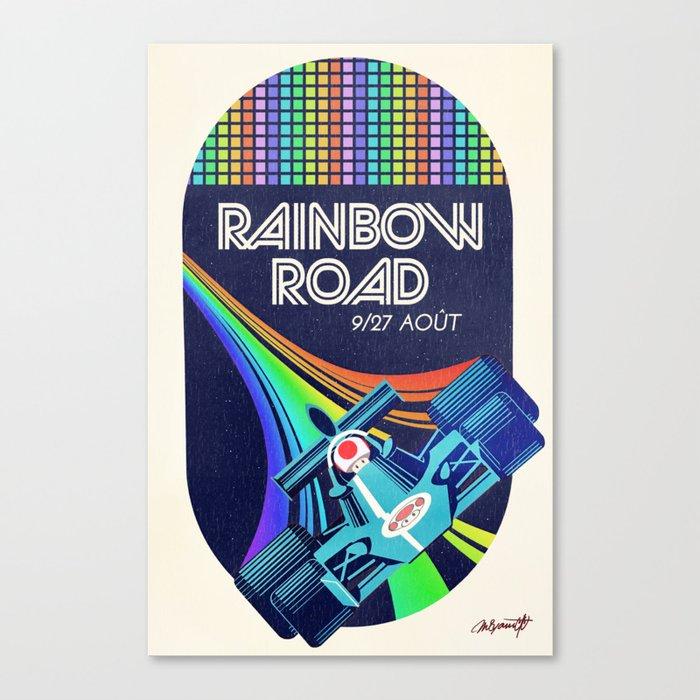 Rainbow Road Grand Prix Canvas Print