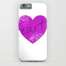 Purple Heart Flower iPhone Case
