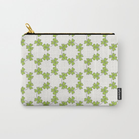 four-leaf clover leaves pattern Carry-All Pouch