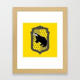 HP Hufflepuff House Crest with stripes Framed Art Print