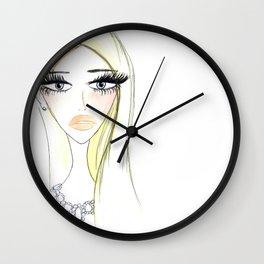 Glam Blondy Wall Clock
