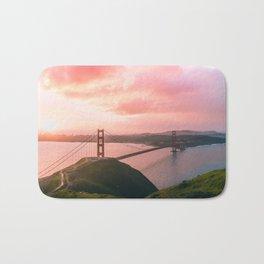 Sherbert Skies over the Golden Gate Bridge from Slackerhill Bath Mat
