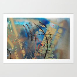 Retrollage 10.. Art Print