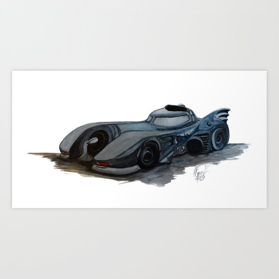 The Batmobile Art Print