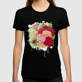 Full bloom | Ladybug carnation T-shirt