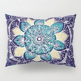 Yoga Blue Mandala Pillow Sham