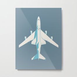 Space Shuttle Spacecraft and 747 Transport Jet - Slate Metal Print