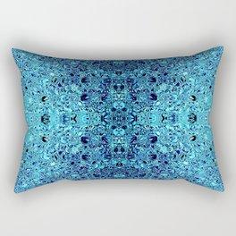 Deep blue glass mosaic Rectangular Pillow