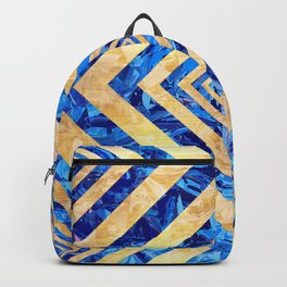 Abstract Crystals Pattern Backpack