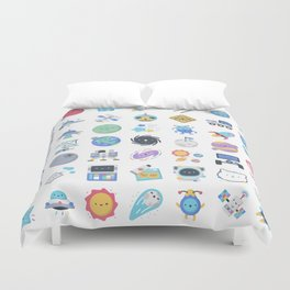 CUTE OUTER SPACE / SCIENCE / GALAXY PATTERN Duvet Cover