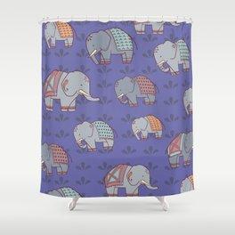 Elephants Pattern Shower Curtain
