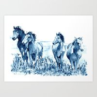 horses Art Prints featuring horses by Michele Petri