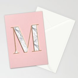 M letter monoram Stationery Cards