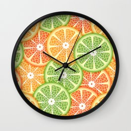 Citruses Wall Clock