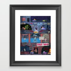 Jump Scares Ghost Train... Framed Art Print