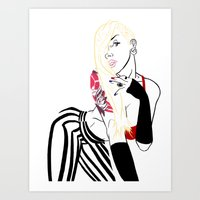 celebrity Art Prints featuring Celebrity by Nunyah Bidness