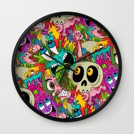 Puke Pattern Wall Clock