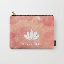Yoga Queen  - Living Coral Watercolor Carry-All Pouch