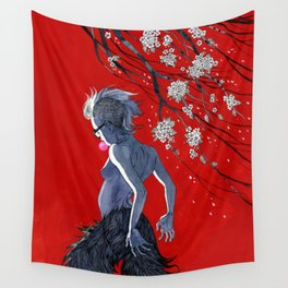 Bubblegum & Cherry Blossoms Wall Tapestry