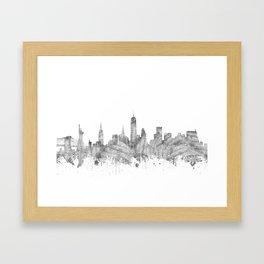 new york skyline music Framed Art Print