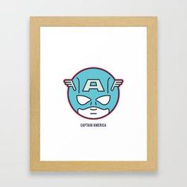 Lil' Heroes: Cap Framed Art Print