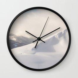 Mountain ridges landscape Wall Clock