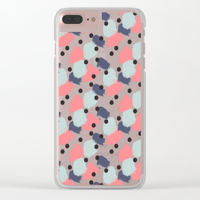 Carnival Pattern Clear iPhone Case
