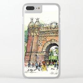Arc de Triomf, Barcelona Clear iPhone Case
