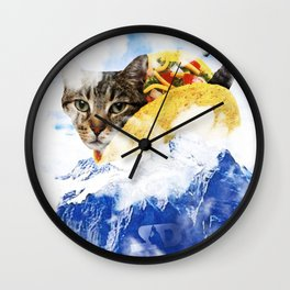 Taco Cat Cloud Mountain of Doom Wall Clock