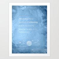 einstein Art Prints featuring Einstein by The Quotes Project