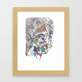 A Woman Framed Art Print