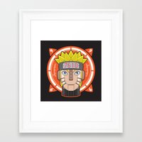 naruto Framed Art Prints featuring Mecha Naruto by Enrique Valles