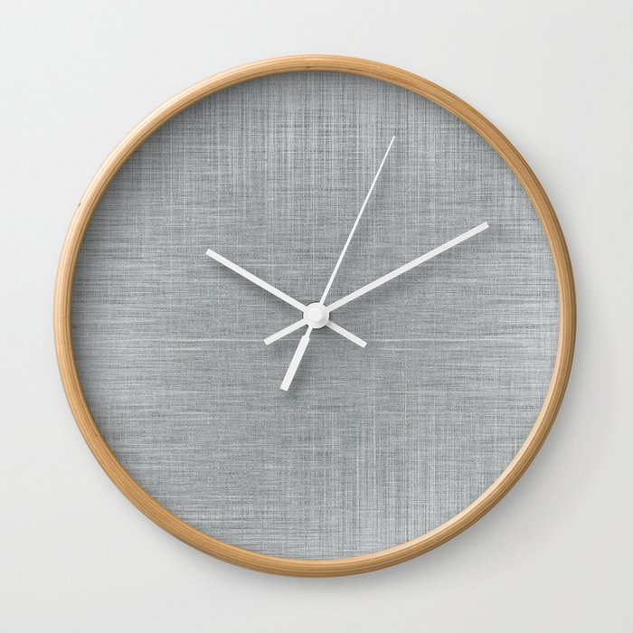 Pale Blue Minimal Hatching Home Goods Pattern Wall Clock by andwomandesign