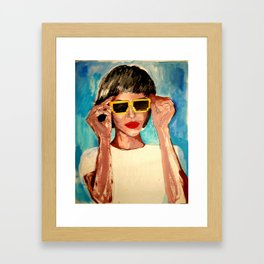 Pixel Sunglasses 02 Framed Art Print