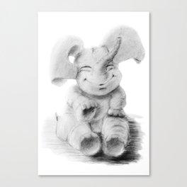 smiling baby elephant Canvas Print
