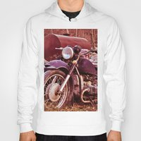 moto Hoodies featuring Vintage Moto by Eduard Leasa Photography