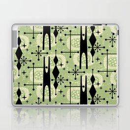 Retro Atomic Mid Century Pattern 771 Sage Laptop & iPad Skin