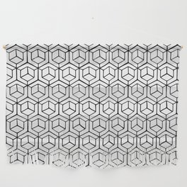 Hand Drawn Hypercube Wall Hanging