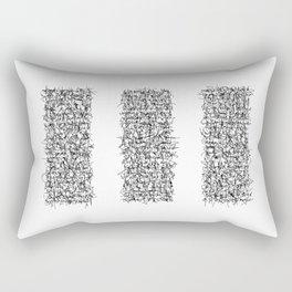 tri white Rectangular Pillow