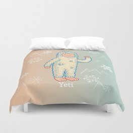 Yeti - Cute Cryptid Duvet Cover