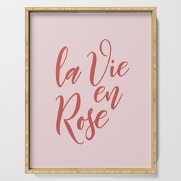 Home Decor Motivational Printable Art LA VIE EN ROSE Wall Art Printable Art Print Serving Tray