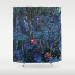 Claude Money's Nympheas Reflets de Saule Shower Curtain