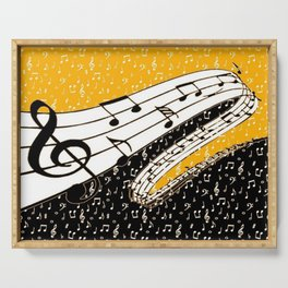 Gold music theme Serving Tray