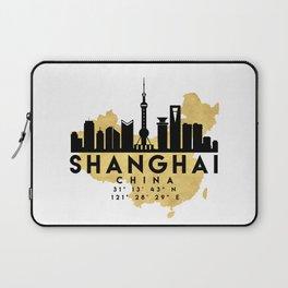SHANGHAI CHINA SILHOUETTE SKYLINE MAP ART Laptop Sleeve