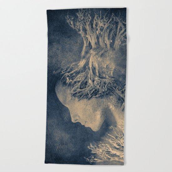 Dark portrait II  (colour option) Beach Towel