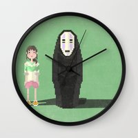 spirited away Wall Clocks featuring spirited away by pixel.pwn | AK
