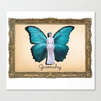 givenchy Canvas Prints featuring Papilio Givenchy by GirlAnnachronism