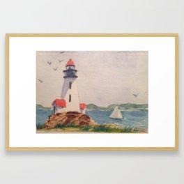Lighthouse test Framed Art Print